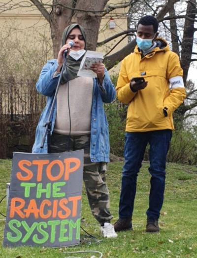 Stop The Racist System - Demo vor der Ausländerbehörde 13.4.21